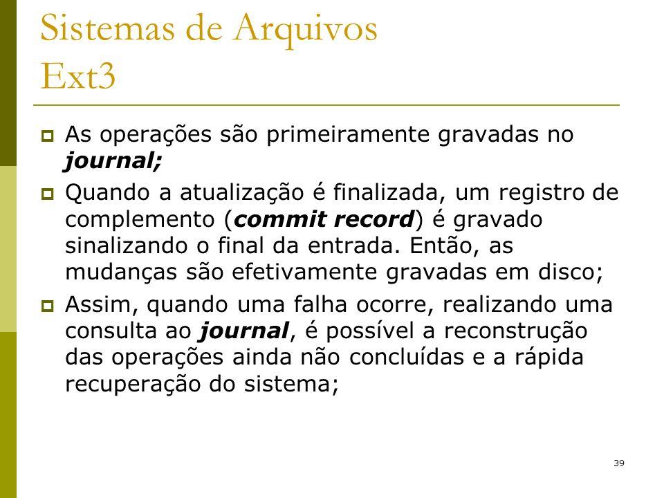 Sistemas de Arquivos Ext3