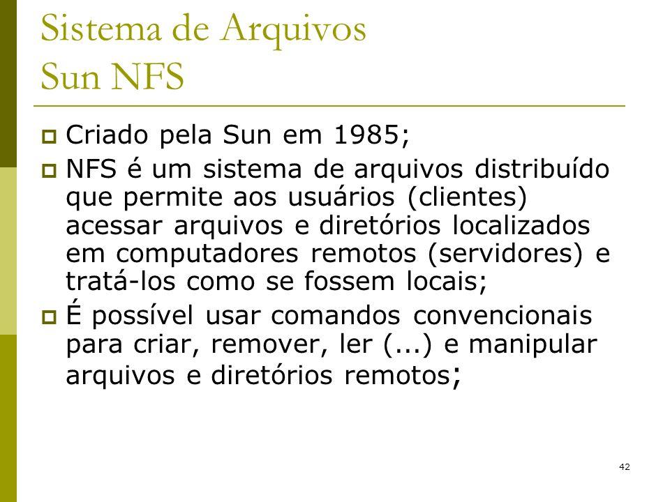 Sistema de Arquivos Sun NFS