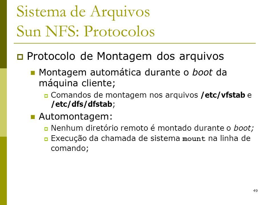 Sistema de Arquivos Sun NFS: Protocolos