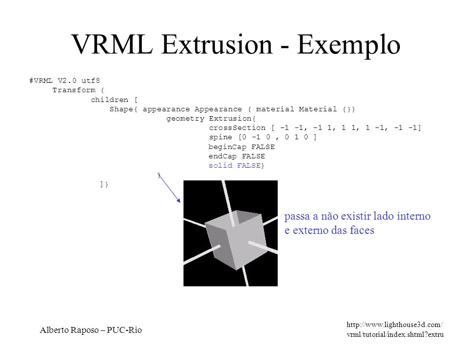 VRML Extrusion - Exemplo