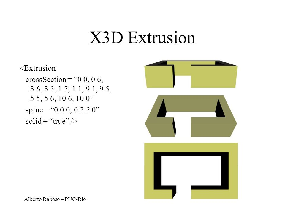 X3D Extrusion <Extrusion