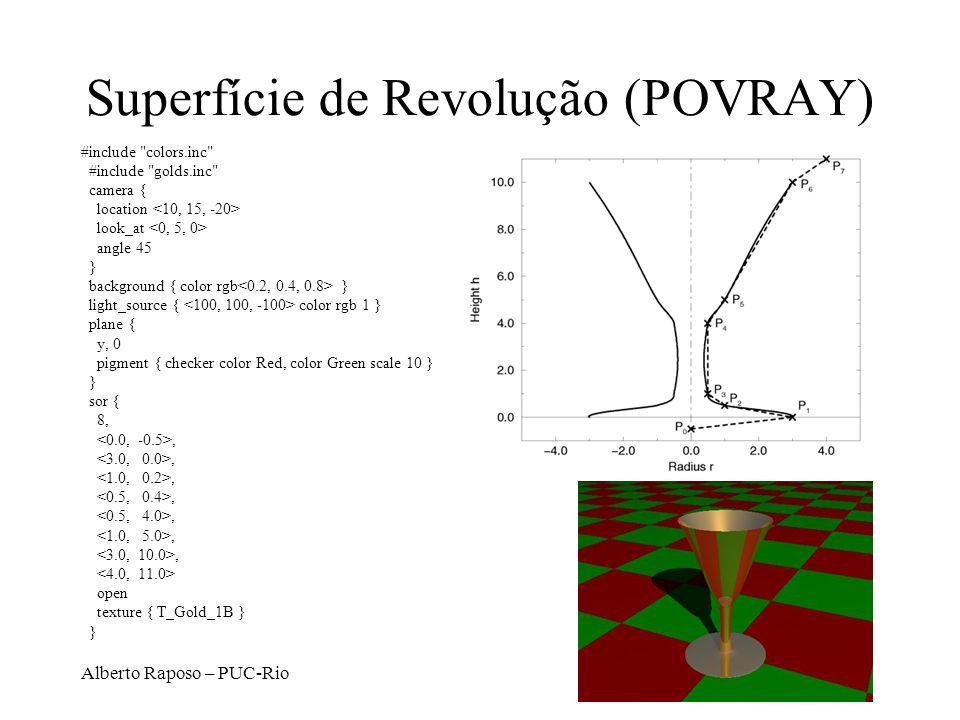 Superfície de Revolução (POVRAY)
