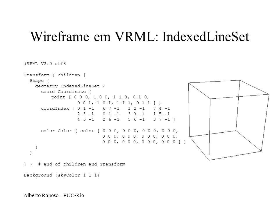 Wireframe em VRML: IndexedLineSet