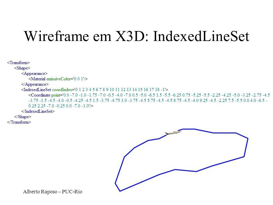 Wireframe em X3D: IndexedLineSet