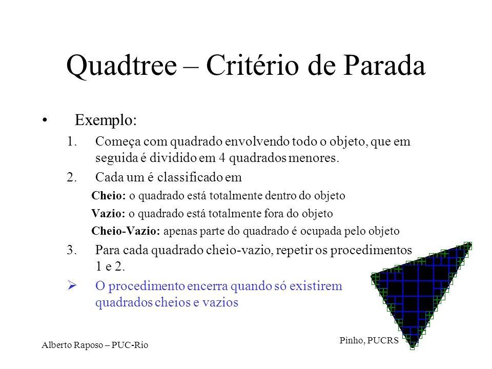Quadtree – Critério de Parada