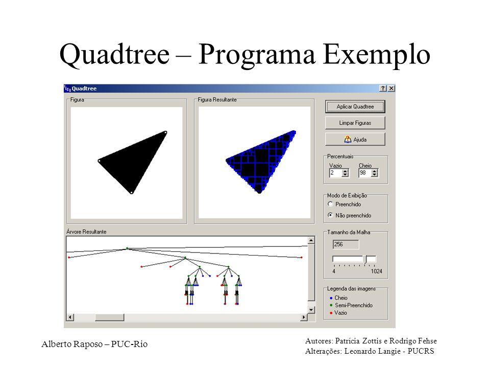 Quadtree – Programa Exemplo