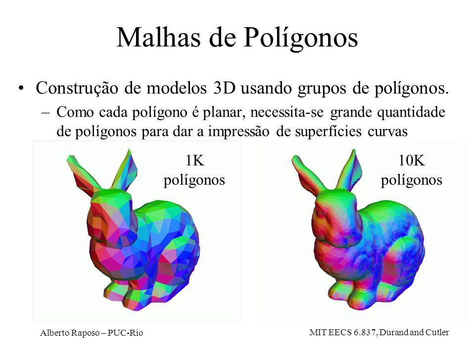 Malhas de PolígonosConstrução de modelos 3D usando grupos de polígonos.