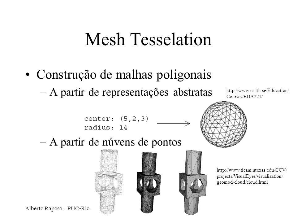 Mesh Tesselation Construção de malhas poligonais