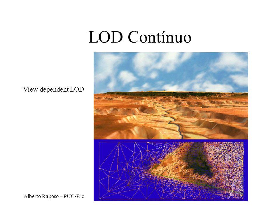 LOD Contínuo View dependent LOD Alberto Raposo – PUC-Rio