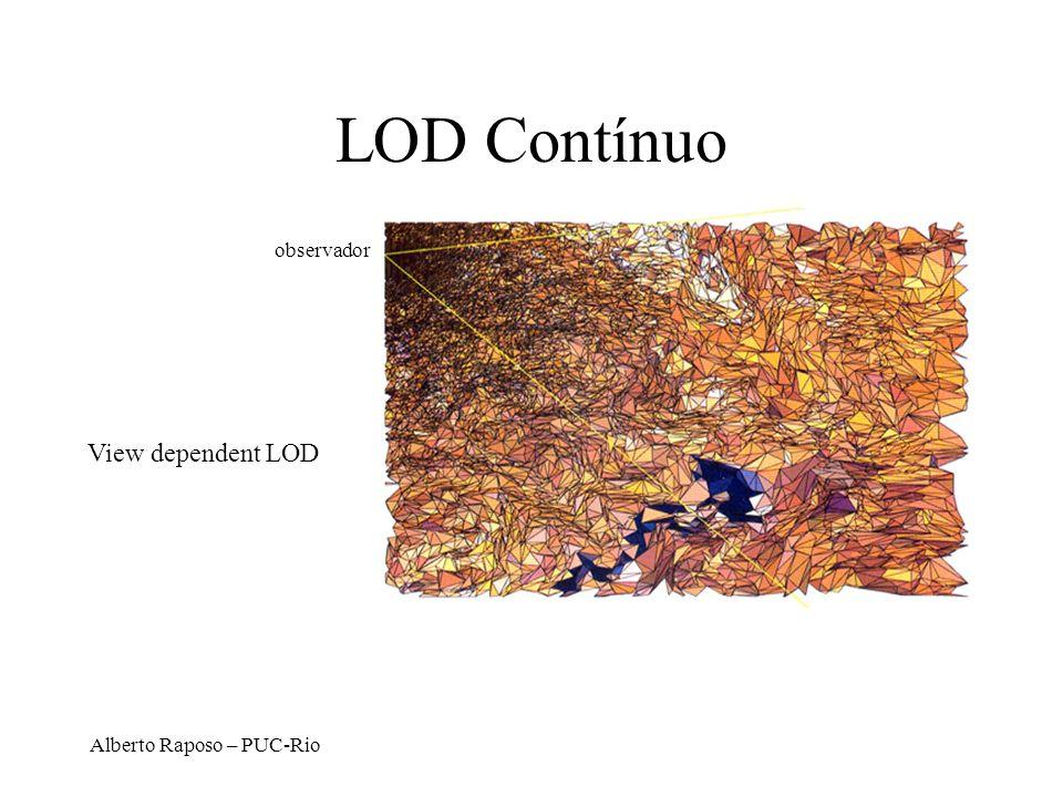 LOD Contínuo observador View dependent LOD Alberto Raposo – PUC-Rio