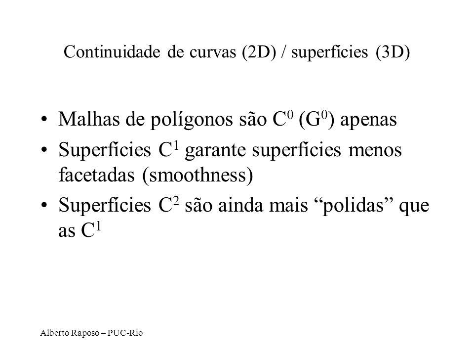 Continuidade de curvas (2D) / superfícies (3D)