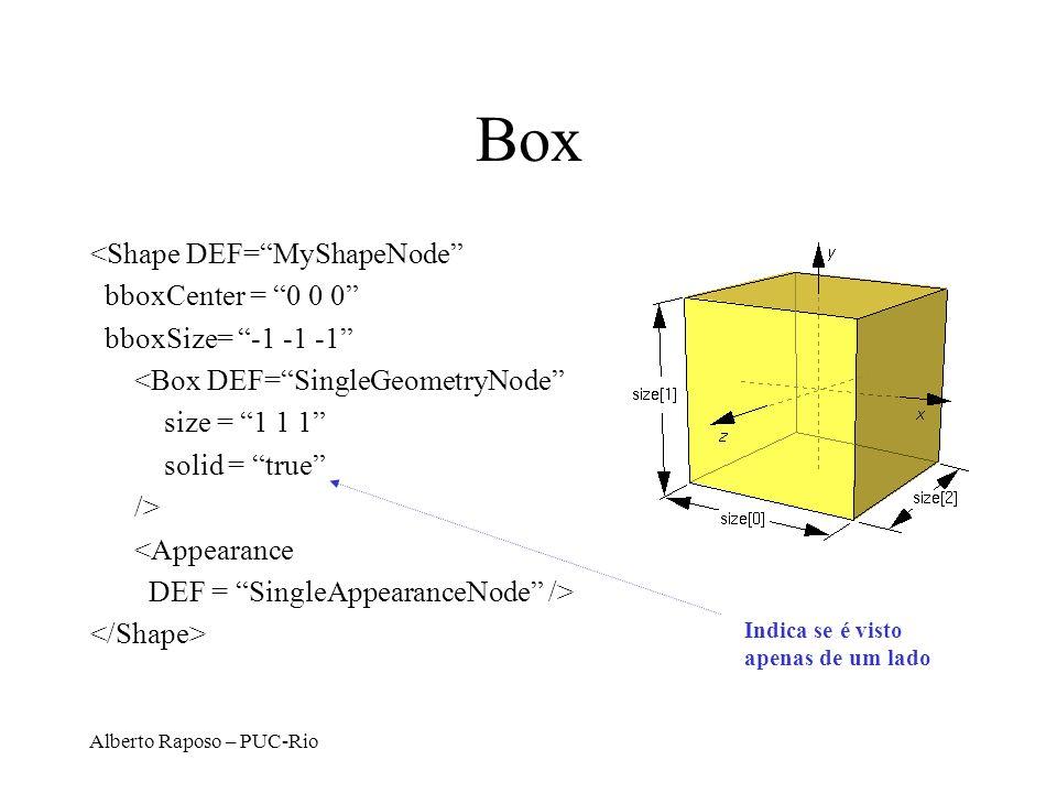 Box <Shape DEF= MyShapeNode bboxCenter = 0 0 0