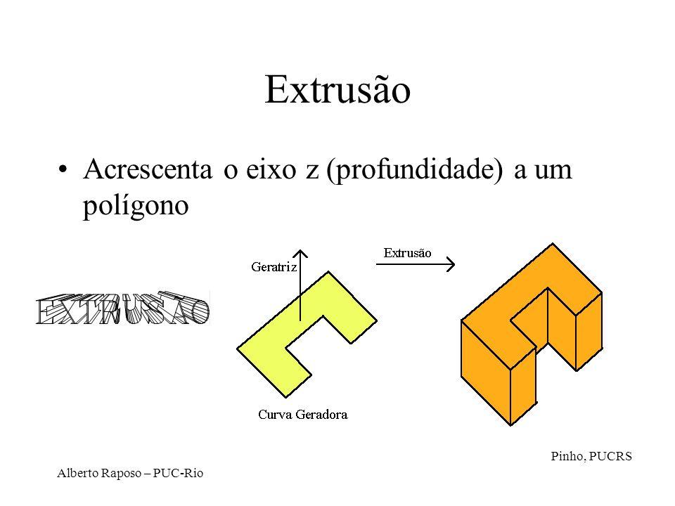 Extrusão Acrescenta o eixo z (profundidade) a um polígono Pinho, PUCRS
