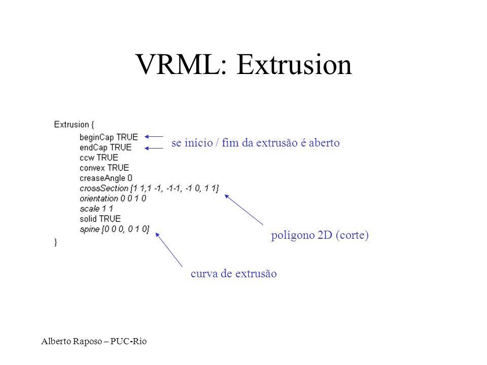 VRML: Extrusion se início / fim da extrusão é aberto
