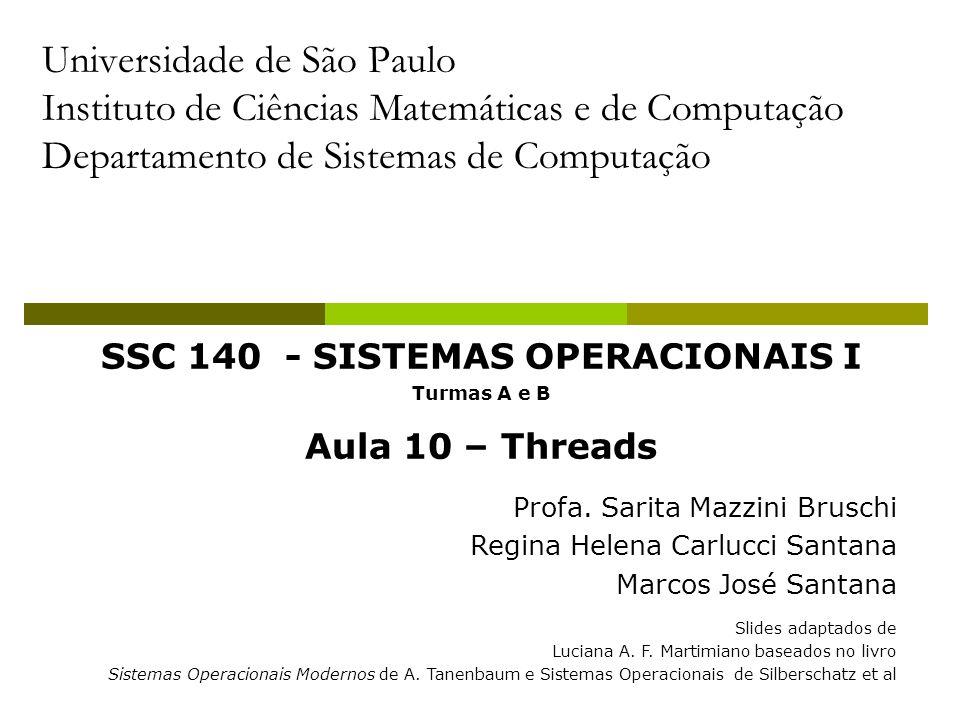 SSC 140 - SISTEMAS OPERACIONAIS I