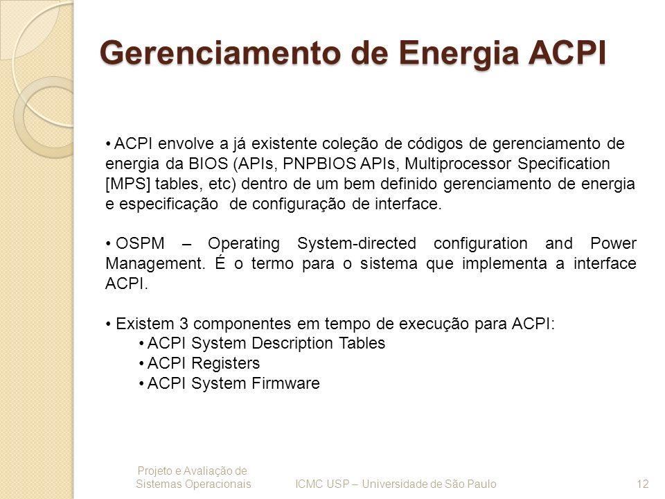 Gerenciamento de Energia ACPI