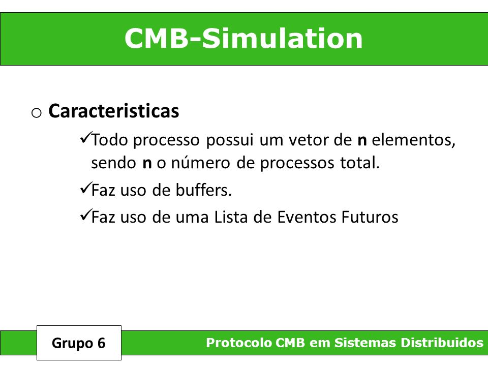 CMB-Simulation Caracteristicas