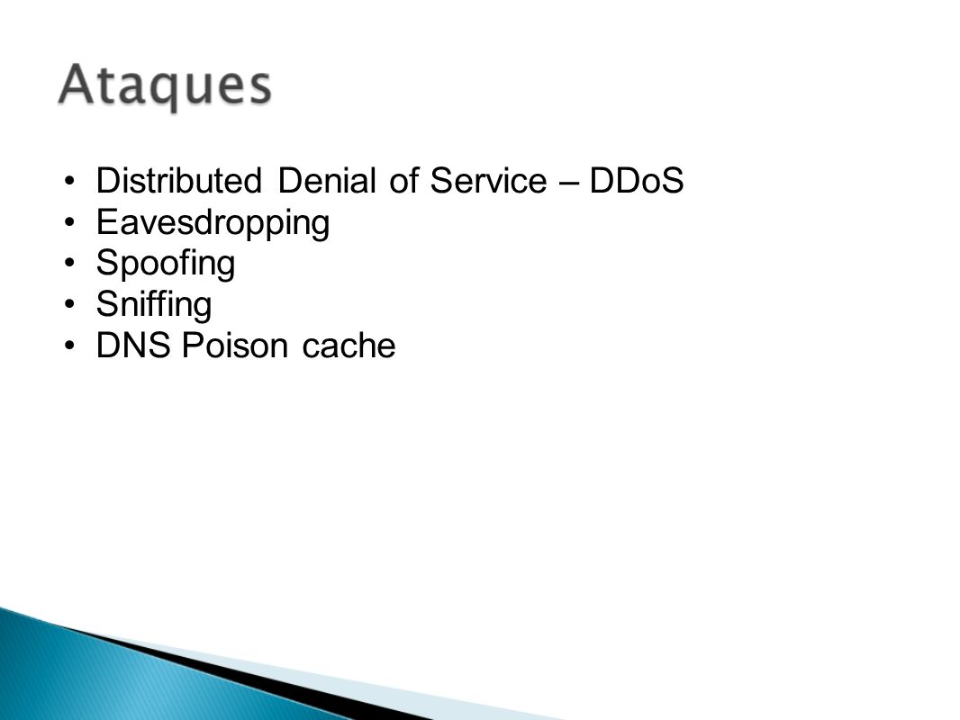 Distributed Denial of Service – DDoS