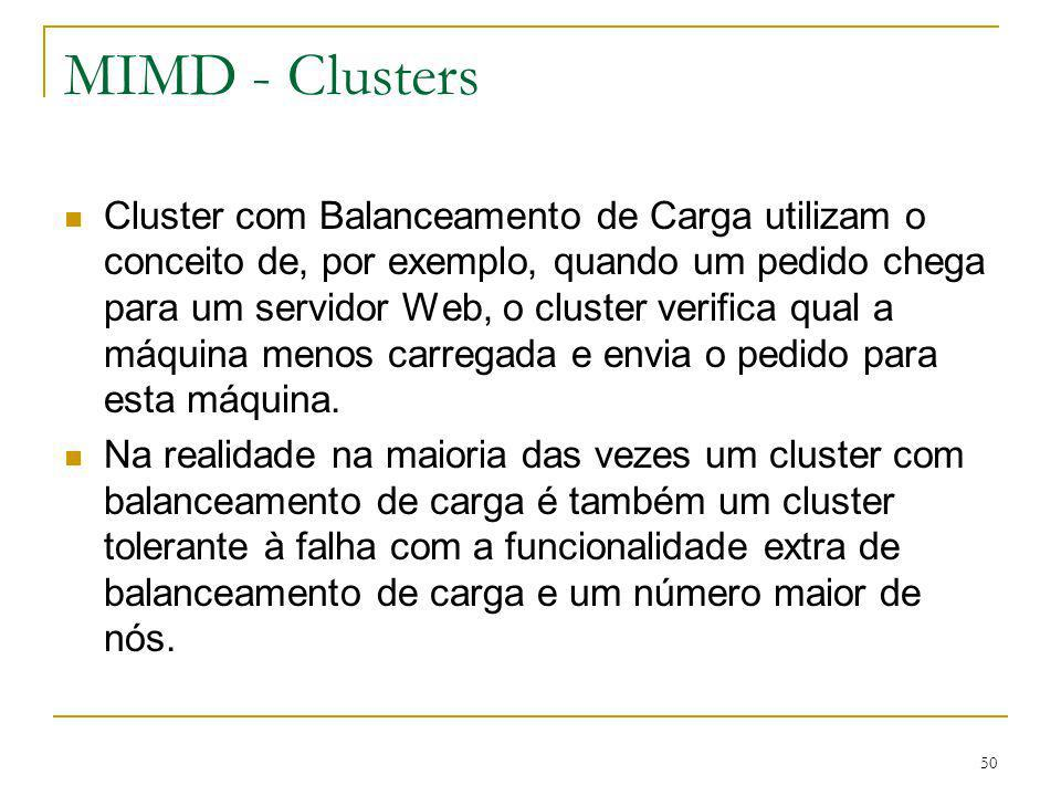 MIMD - Clusters