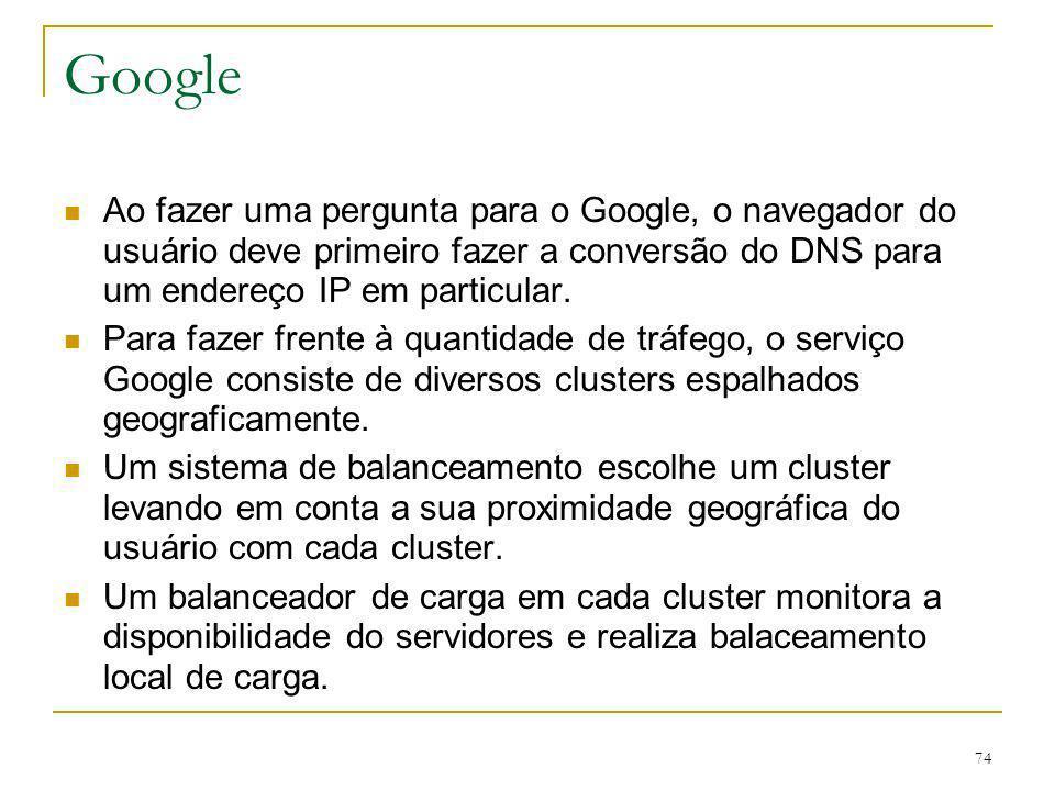 Google Ao fazer uma pergunta para o Google, o navegador do usuário deve primeiro fazer a conversão do DNS para um endereço IP em particular.
