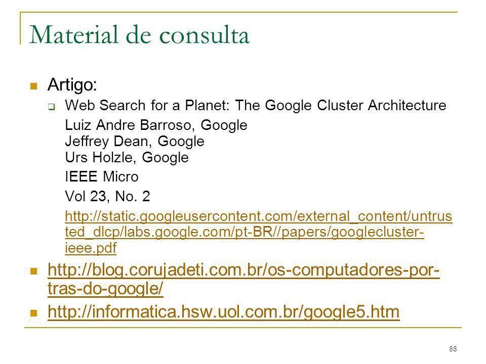 Material de consulta Artigo: