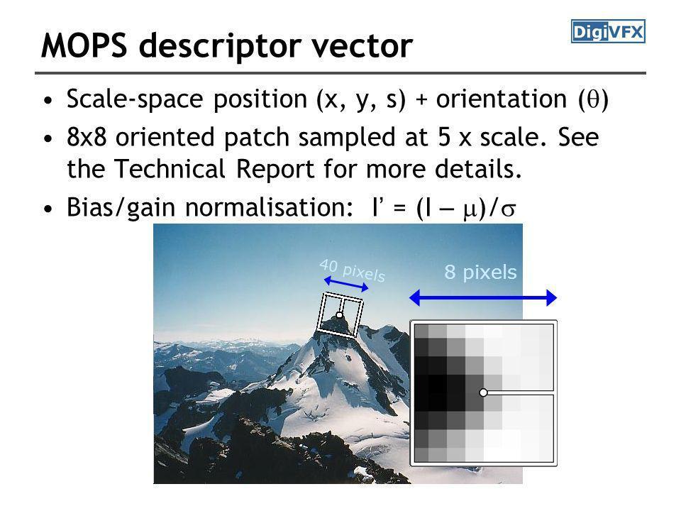 MOPS descriptor vector