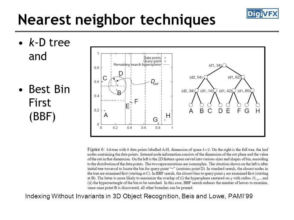 Nearest neighbor techniques