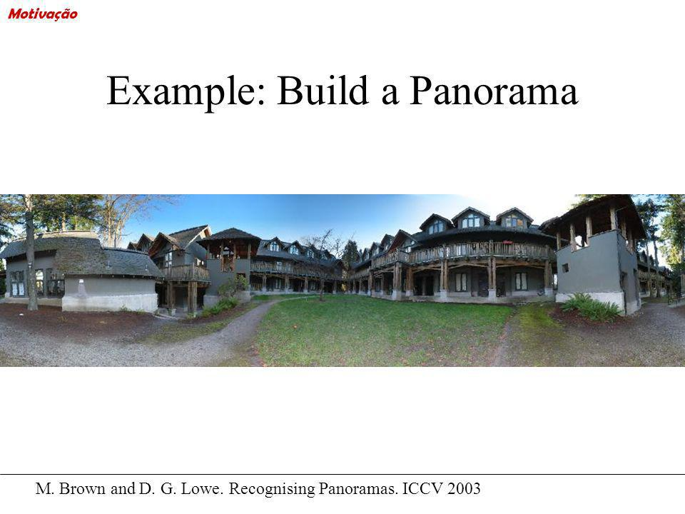 Example: Build a Panorama