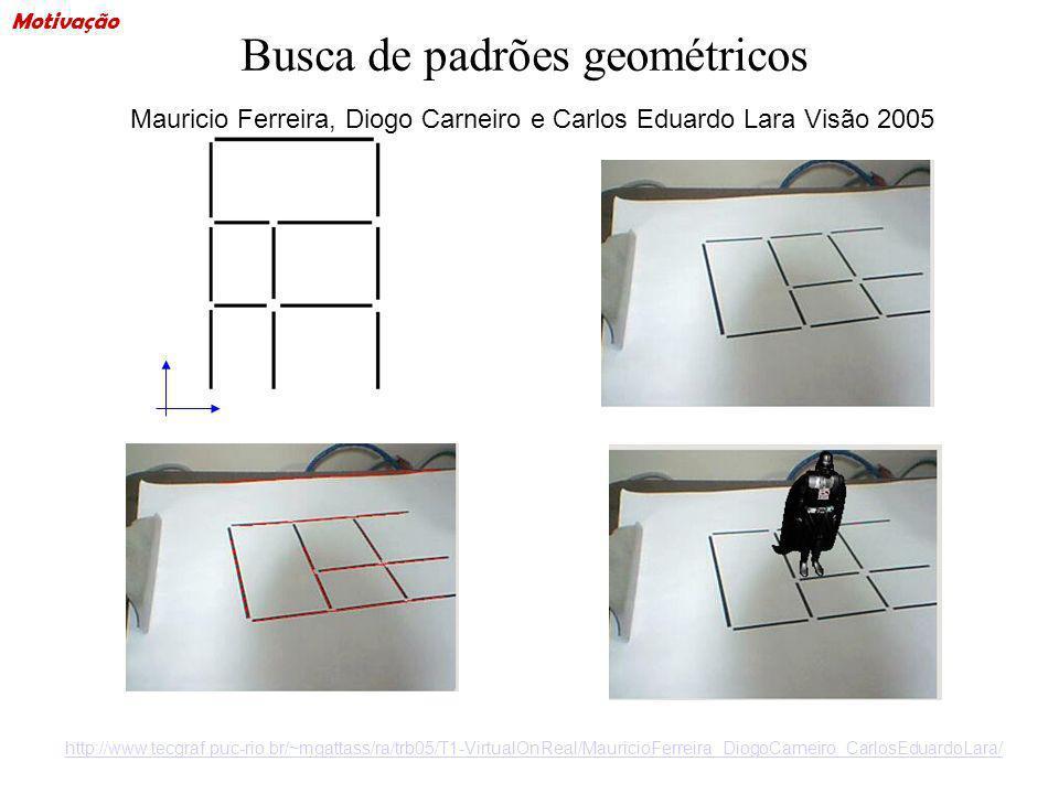 Busca de padrões geométricos