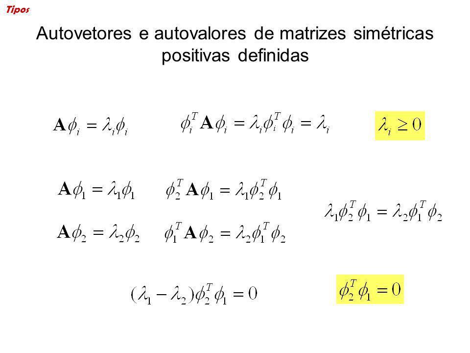 Autovetores e autovalores de matrizes simétricas positivas definidas