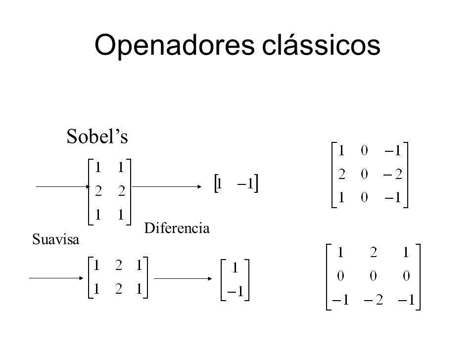 Openadores clássicos Sobel's Diferencia Suavisa 39