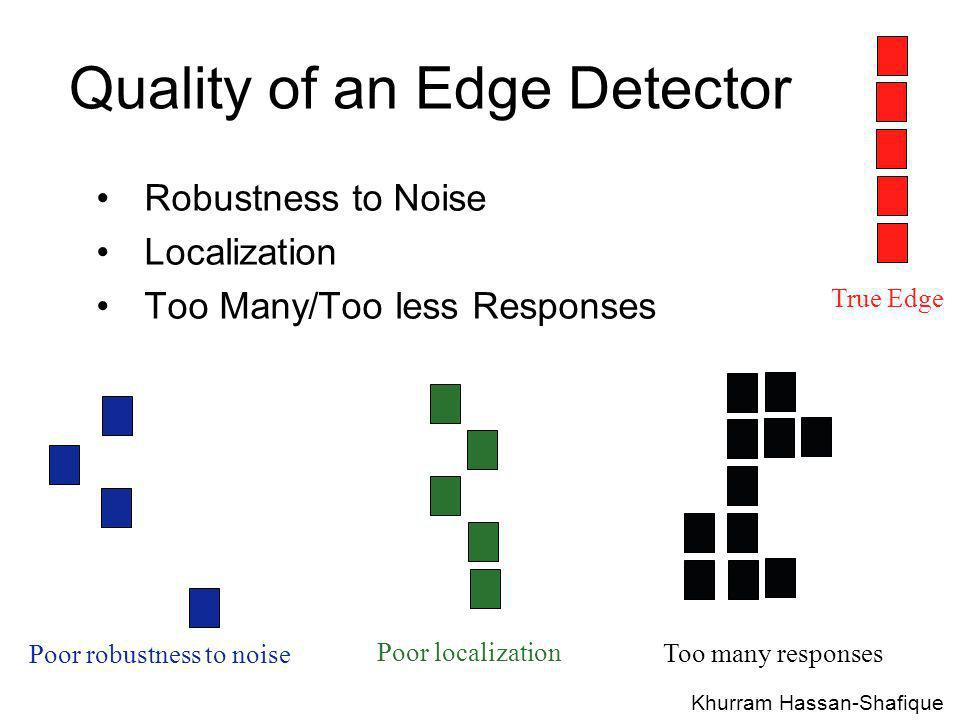 Quality of an Edge Detector
