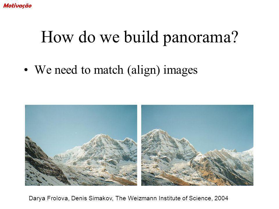 How do we build panorama