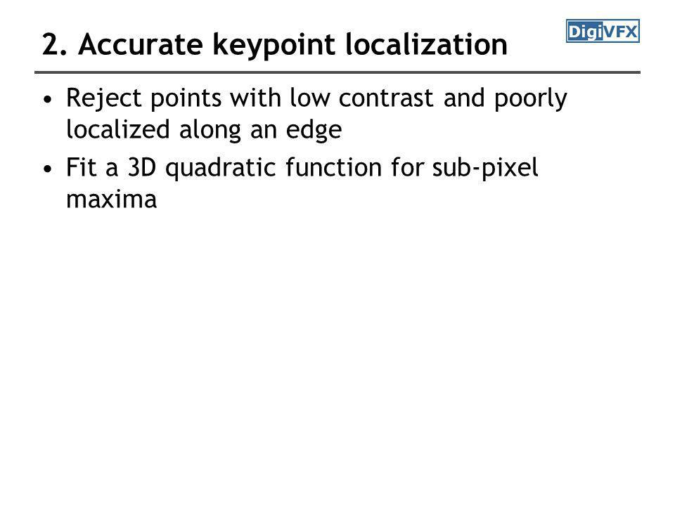 2. Accurate keypoint localization