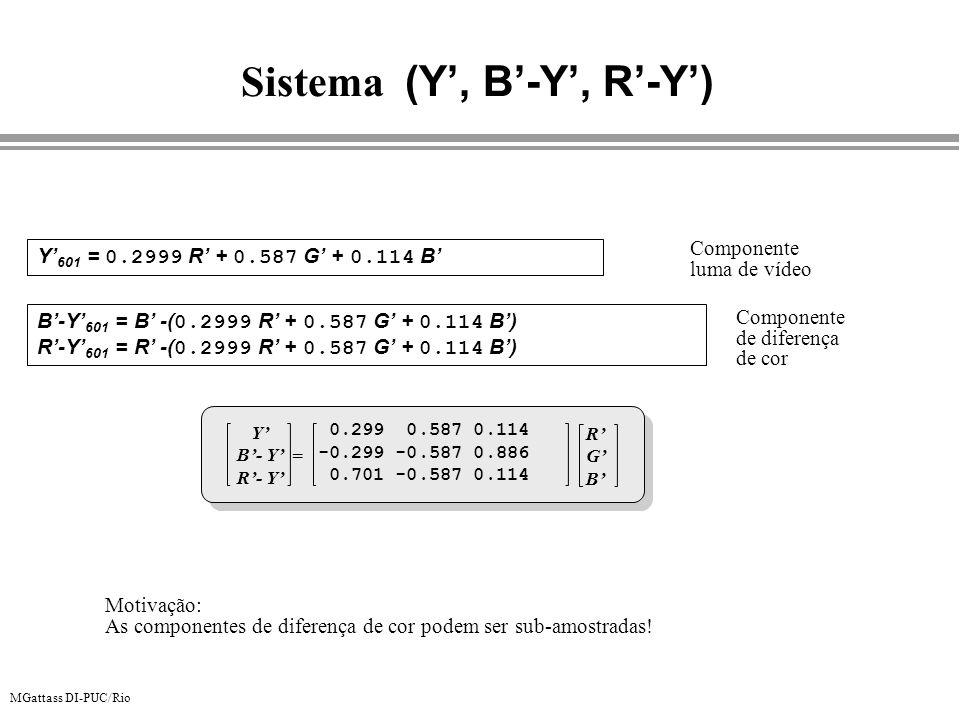 Sistema (Y', B'-Y', R'-Y')