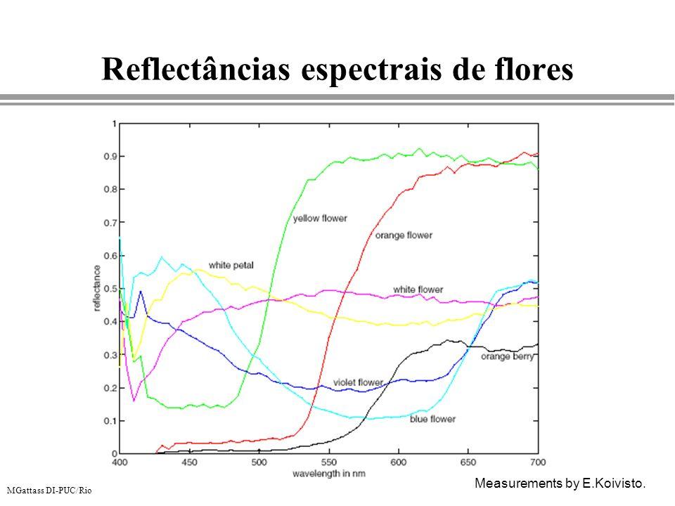 Reflectâncias espectrais de flores