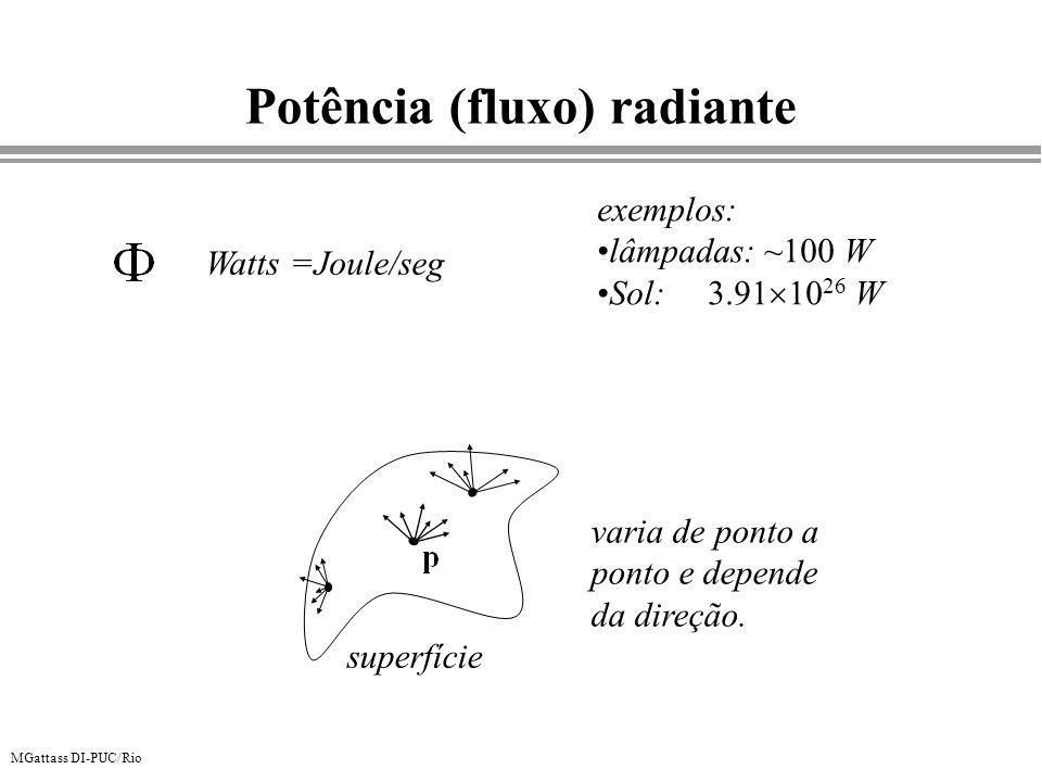 Potência (fluxo) radiante