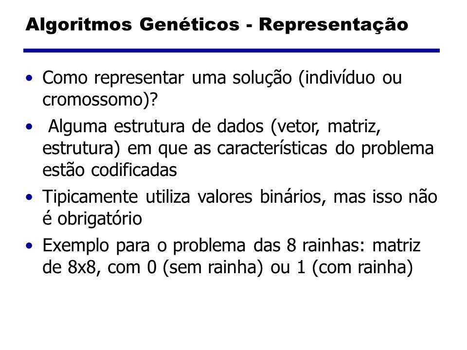 Algoritmos Genéticos - Representação