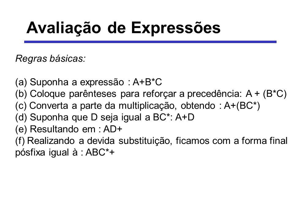 Avaliação de Expressões