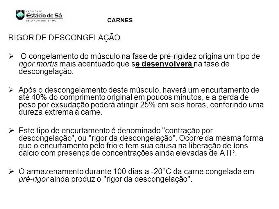 RIGOR DE DESCONGELAÇÃO