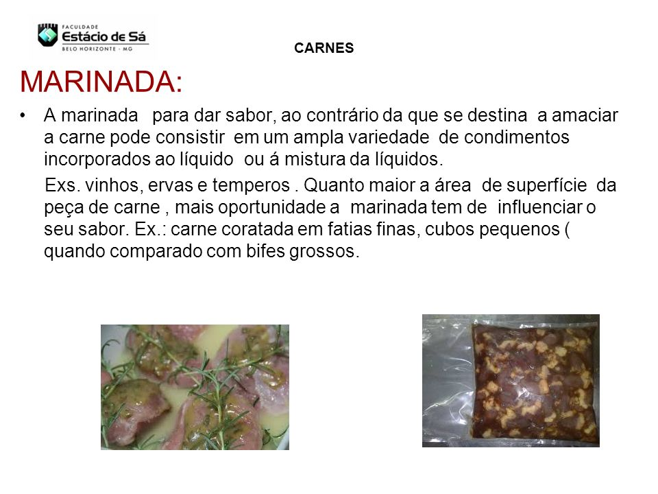 CARNES MARINADA: