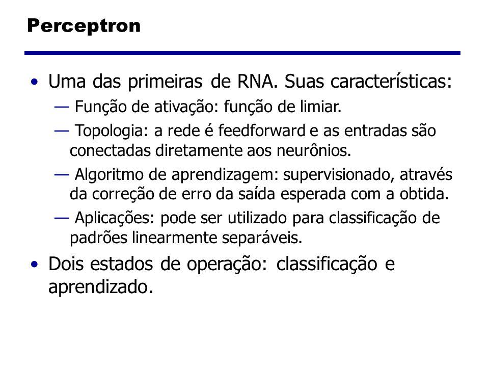 Uma das primeiras de RNA. Suas características:
