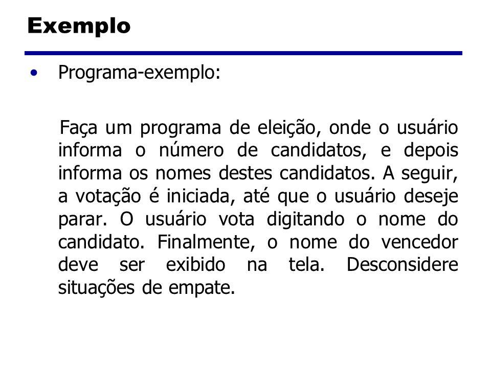 Exemplo Programa-exemplo: