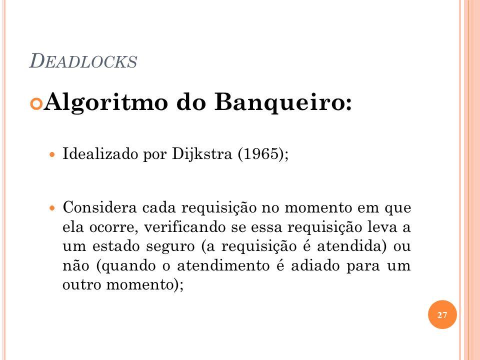 Algoritmo do Banqueiro: