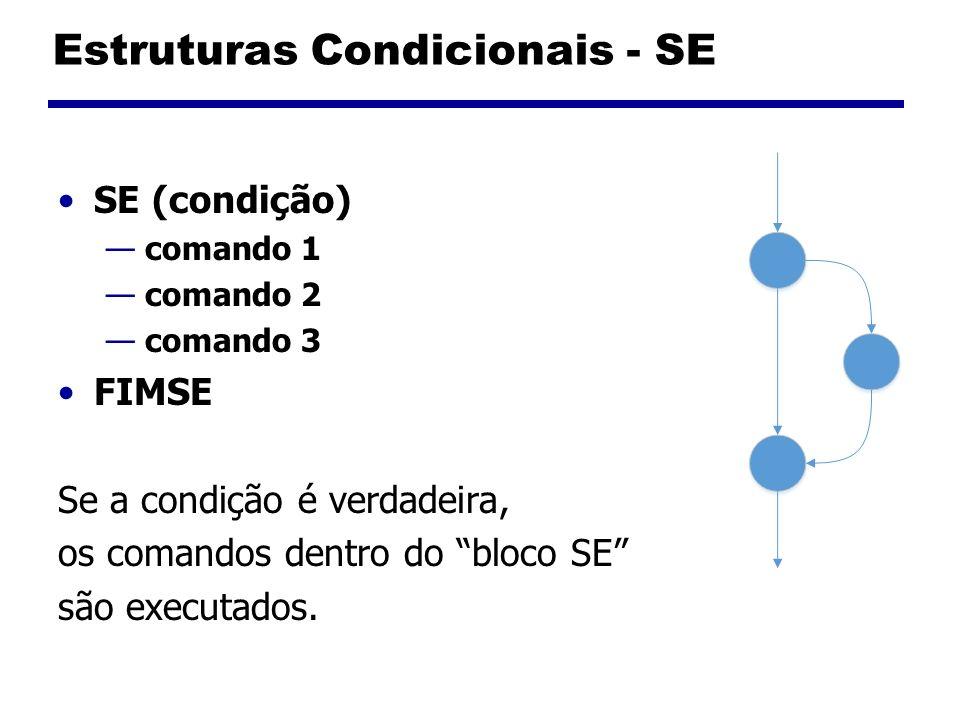 Estruturas Condicionais - SE