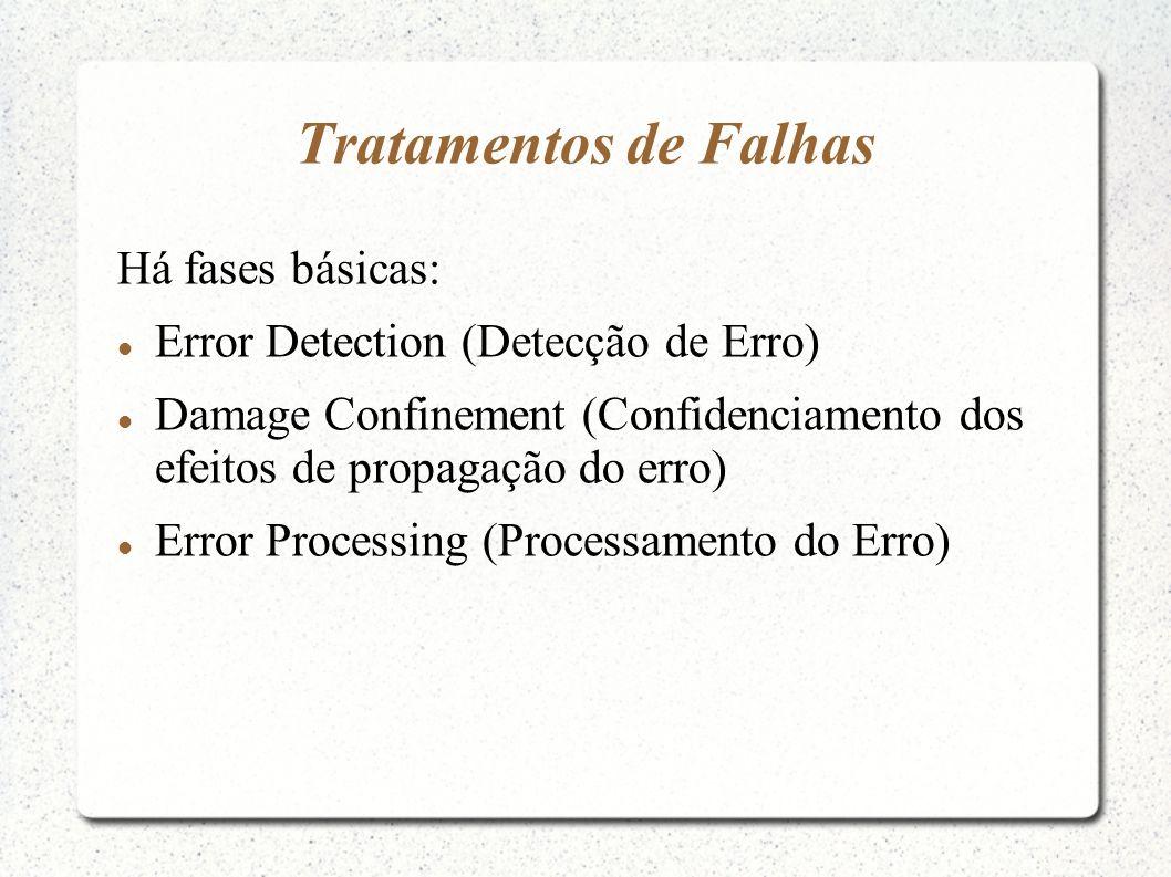 Tratamentos de Falhas Há fases básicas: