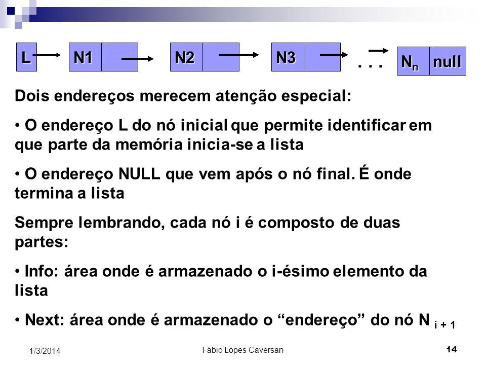 . . . N1 Nn null N2 N3 L Dois endereços merecem atenção especial: