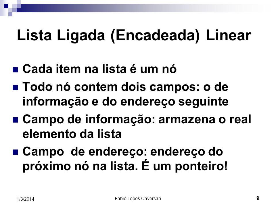 Lista Ligada (Encadeada) Linear