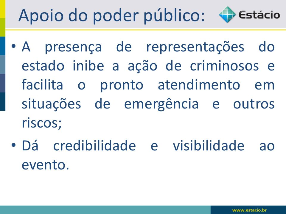 Apoio do poder público: