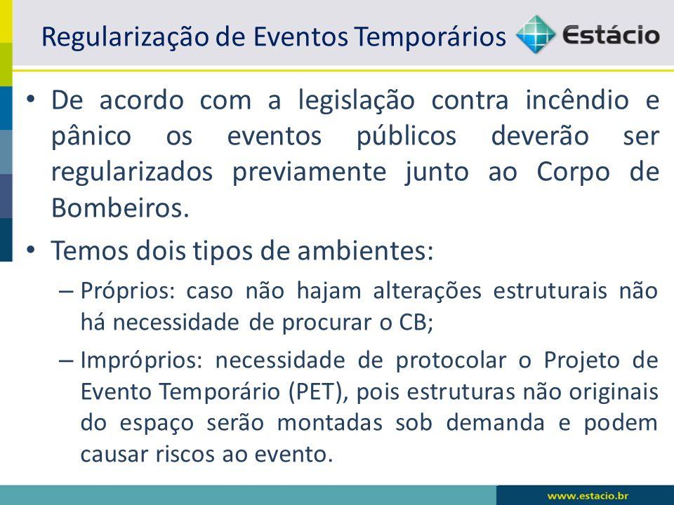 Regularização de Eventos Temporários